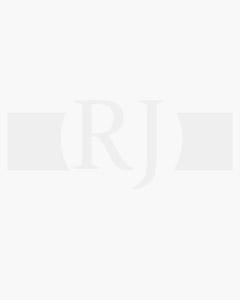 Gemelos para camisa rectangulares rodinados con dos rayas centrales esmalte negro colección de joyas fashion, medida 20x14 milímetros con cierre rígido articulado
